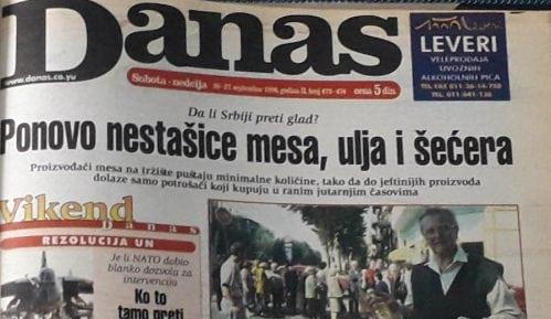 Danas (1998): Ujedinjene nacije zapretile Jugoslaviji 11