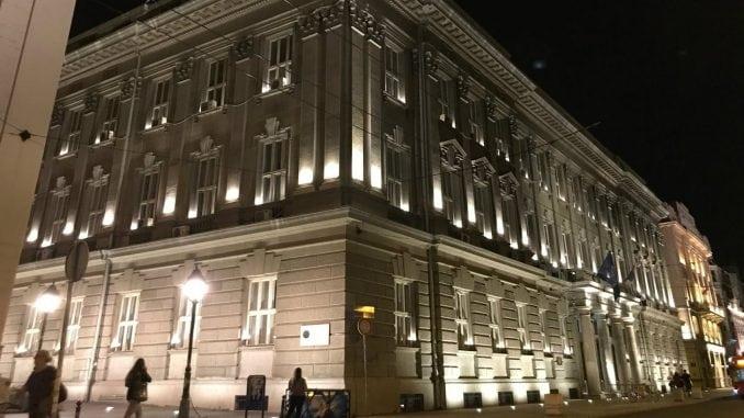 Dekorativno osvetljen Filološki fakultet 2