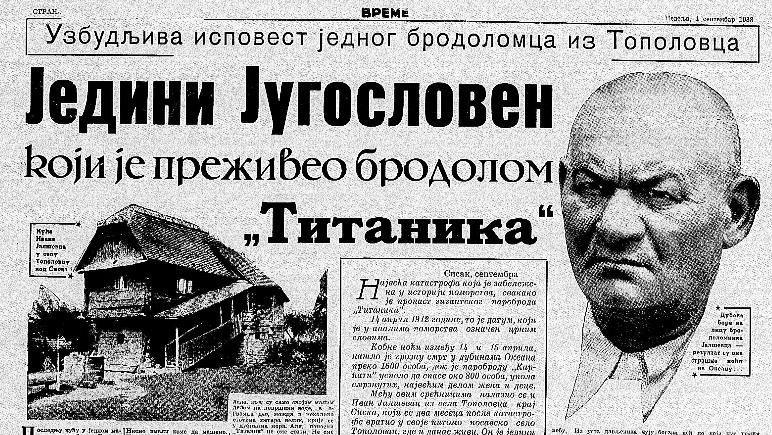 Kako je Jugosloven preživeo brodolom Titanika? 3