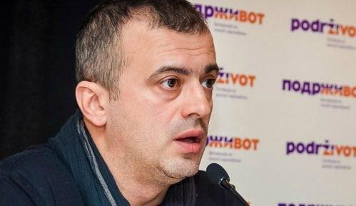 Portret Sergeja Trifunovića bačen zbog sednice naprednjaka 9