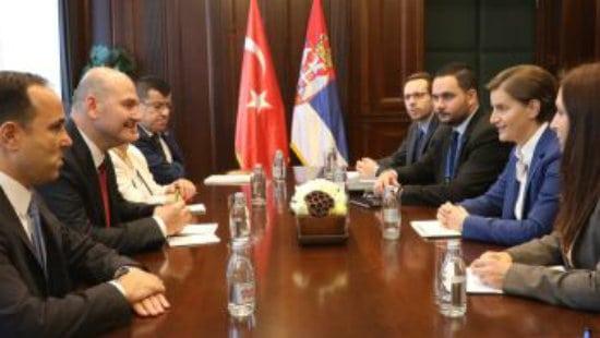 Brnabić sa turskim ministrom unutrašnjih poslova o evrointegracijama 1
