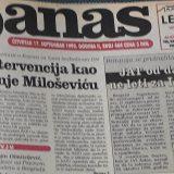 Danas (1998): Sve glasnije pretnje Jugoslaviji 9