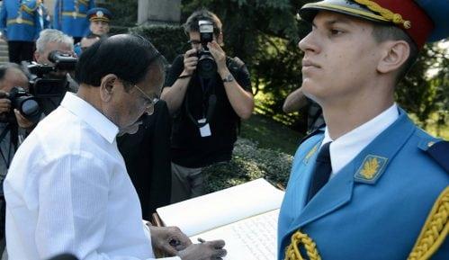 Potpredsednik Indije položio venac na Spomenik neznanom junaku 15