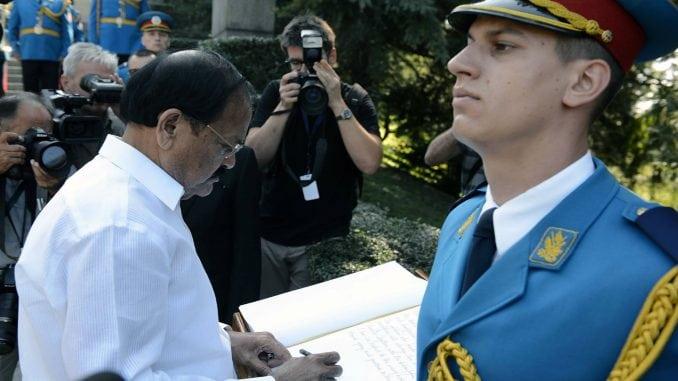 Potpredsednik Indije položio venac na Spomenik neznanom junaku 4