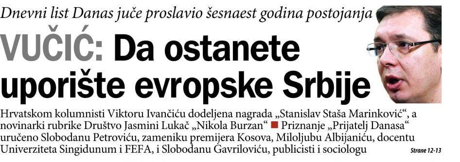Šta je sve Vučić govorio o Danasu? (VIDEO) 2