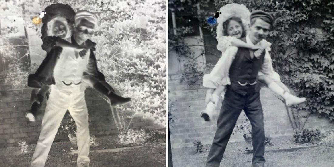 Muškarac nosi devojčicu na leđima