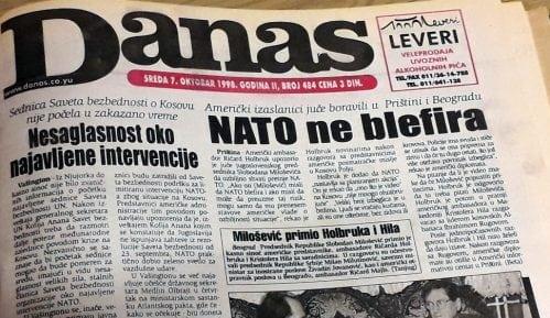 Danas (1998): Avioni NATO samo što nisu poleteli 10