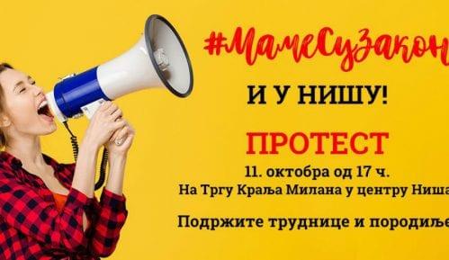 U Nišu danas drugi protest inicijative #MameSuZakon 14