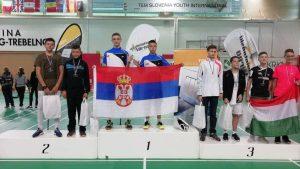 Badminton timu Srbije pet medalja u Sloveniji
