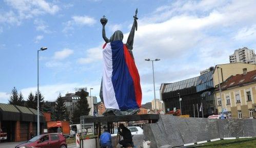 """Užice: Otkrivanje spomenika """"Velika Srbija"""" 31. oktobra 1"""