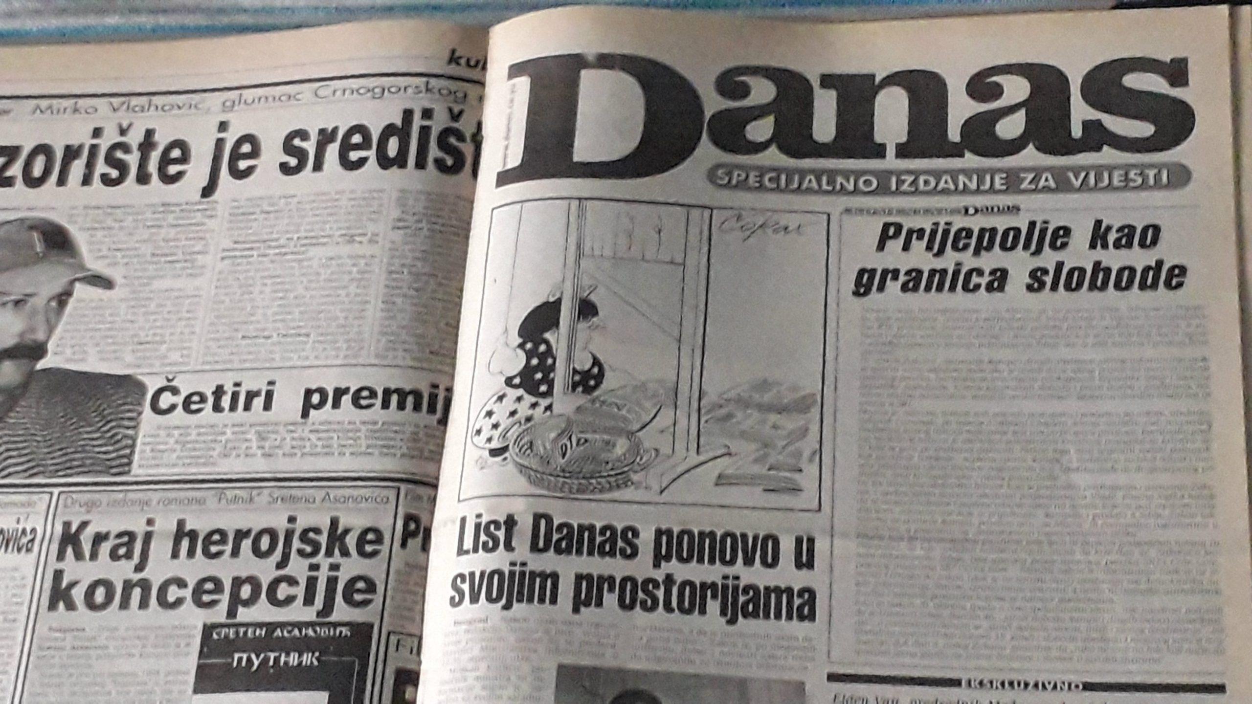 Kako su 1998. izgledali protesti zbog gašenja Danasa? 1