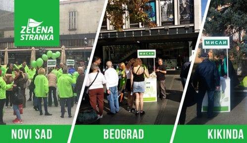 Zelena stranka nastavila akciju deljenja eko torbi 7