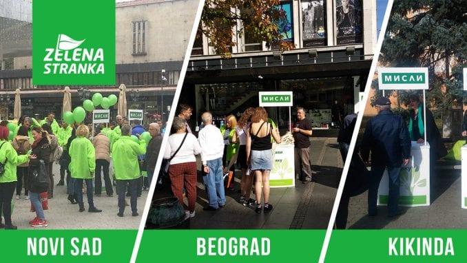Zelena stranka nastavila akciju deljenja eko torbi 1