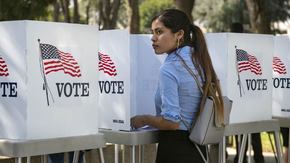 Girl voting in LA