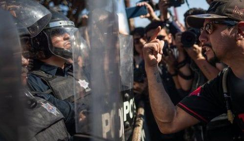 Mesiko: Protesti u Tihuani zbog izbegličkog karavana 8