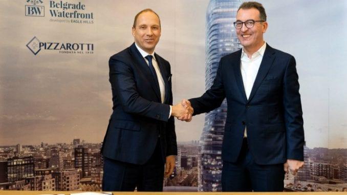 Potpisan ugovor Pizzarotti i Belgrade Waterfront 1