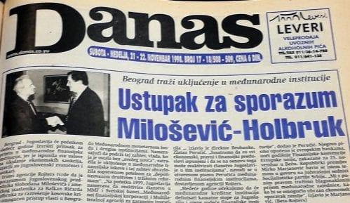 Danas (1998): Mitrović dobija frekvenciju, dok Ćuruviji plene novine 8