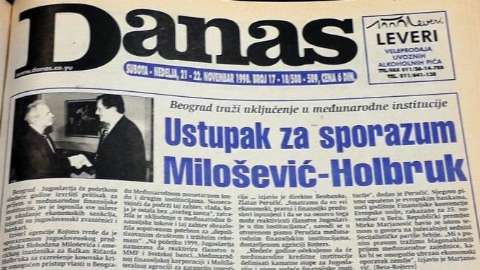 Danas (1998): Mitrović dobija frekvenciju, dok Ćuruviji plene novine 4