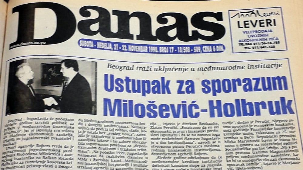 Danas (1998): Mitrović dobija frekvenciju, dok Ćuruviji plene novine 1