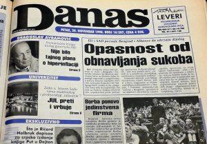 Danas (1998): Mitrović dobija frekvenciju, dok Ćuruviji plene novine 2