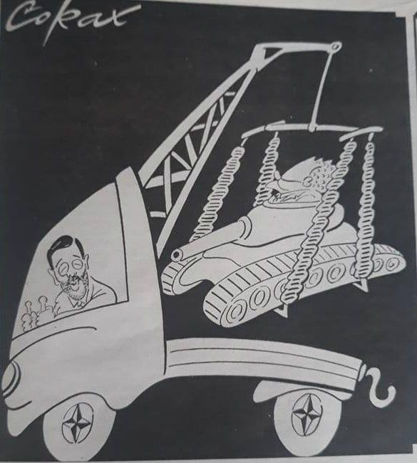 Prva karikatura Koraksa u Danasu pre 20 godina (FOTO) 2