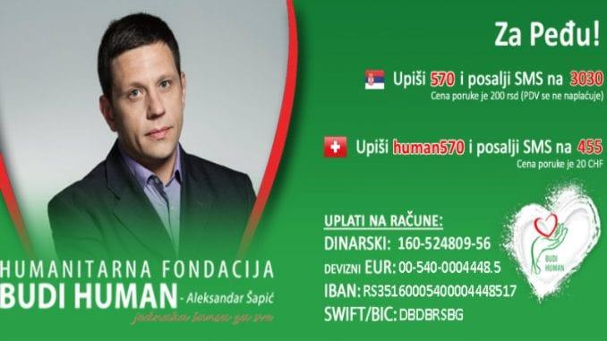 Humanitarna akcija za Peđu Obradovića 1