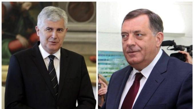 Dodik i Čović: Krajnje vreme da se formira novi Savet ministara BiH 2