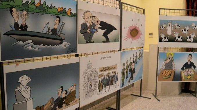 Direktorka biblioteke: Nije bilo pritisaka da se skine izložba karikatura 1