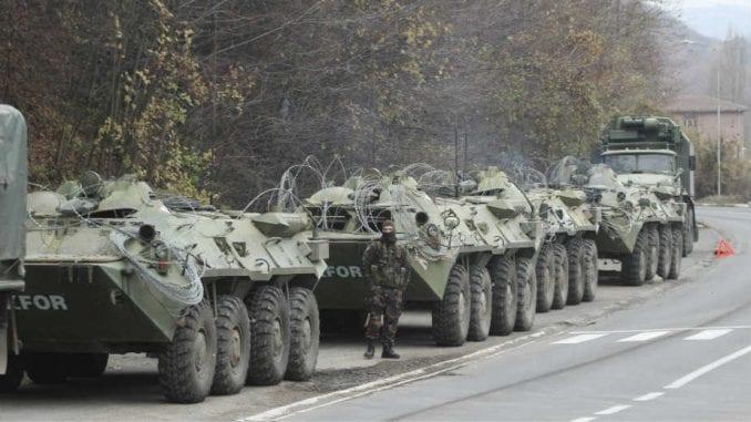 Odložene vojne vežbe Kfora 1