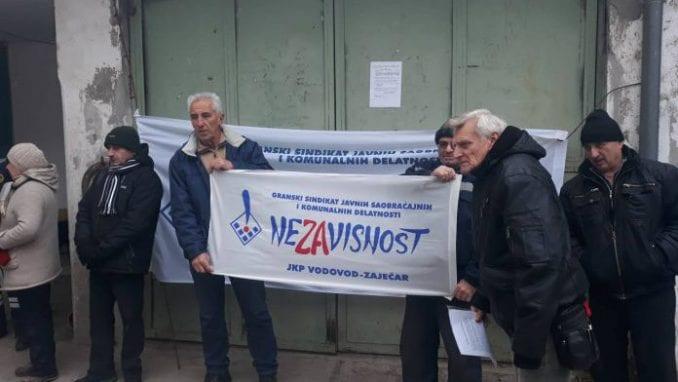 """Štrajk upozorenja """"JKP Vodovod Zaječar"""": Vratite nam 10 odsto od zarade 1"""
