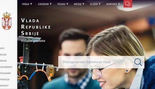 """Novi sajt Vlade Srbije """"U službi građana"""" 13"""