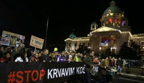Protestna kolona možda i ispred Predsedništva 4