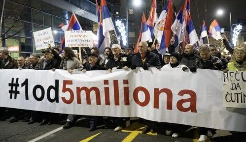 """Četvrti protest """"Jedan od pet miliona"""" - Novo okupljanje i novi zahtev 2"""