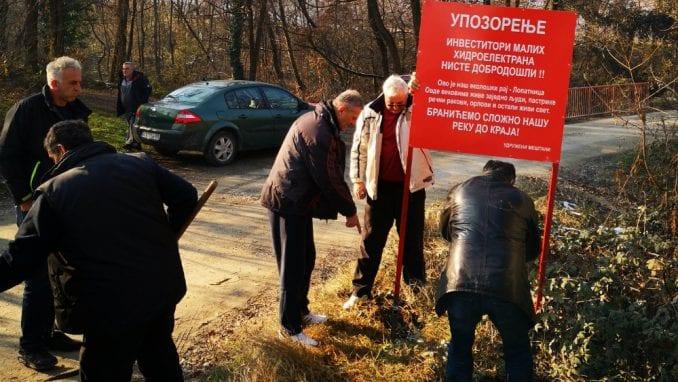 Protest protiv izgradnje mini hidroelektrana 27. januara u Beogradu 1