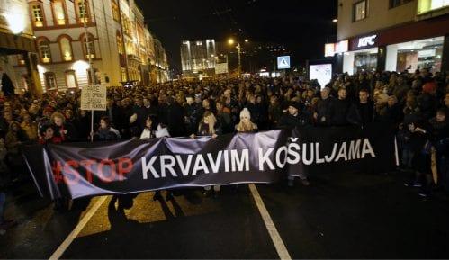 """""""Izmišljotina da se govornici na protestu nisu obratili zbog upozorenja policije"""" 4"""