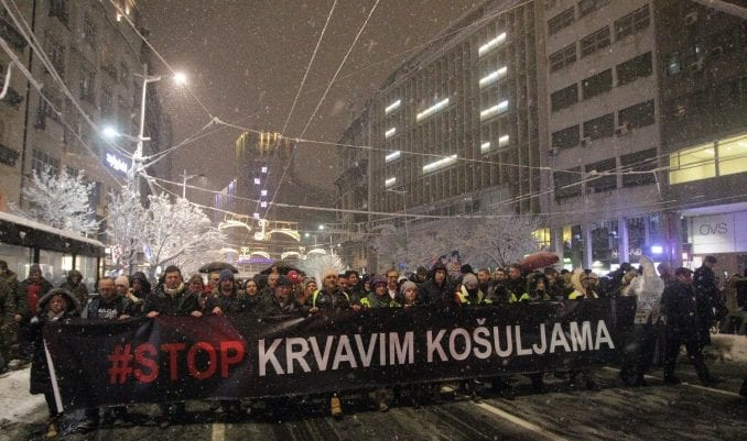 "Sledeći protest ""Stop krvavim košuljama"" ipak 22. decembra 2"