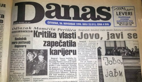Danas (1998): Smena Momčila Perišića, studentski protesti... 5