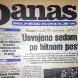 Vučić (1998): Zakon sankcioniše kada mediji pozivaju na rušenje države 1