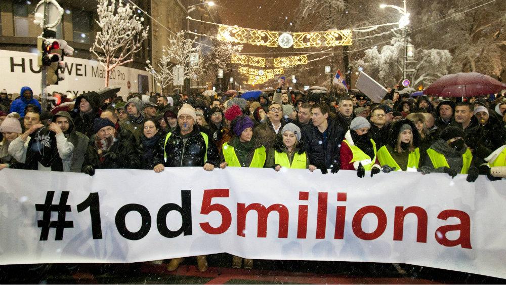 Organizatori protesta 1 od 5 miliona traže pet minuta u Dnevniku 2 1