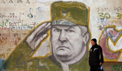 Grafiti sa likom Ratka Mladića u Baru 7