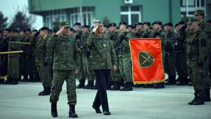 """Otkrivanjem natpisa """"Ministarstvo odbrane Kosova"""" počeo proces tranzicije BSK 4"""