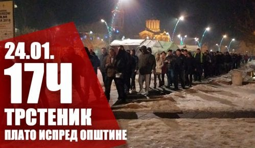 """Drugi protest """"1 od 5 miliona"""" u Trsteniku 24. januara 13"""