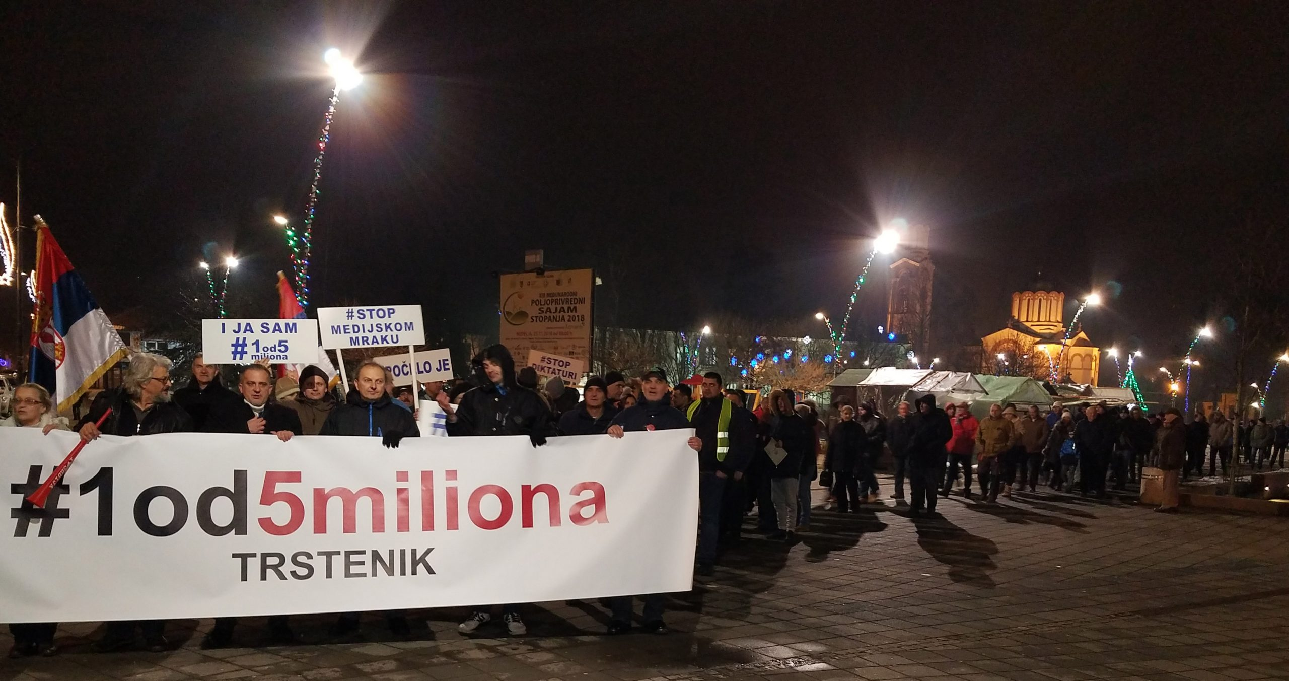 Protesti u Trsteniku i Kuršumliji 1
