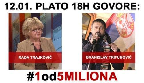 Na platou govore Rada Trajković i Branislav Trifunović 4