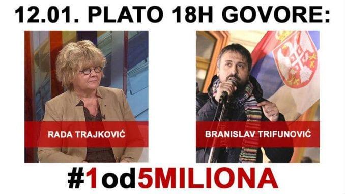 Na platou govore Rada Trajković i Branislav Trifunović 1