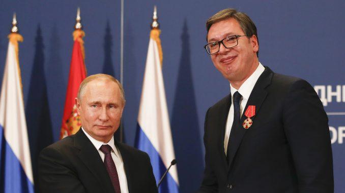 Putinova čestitka Vučiću 1