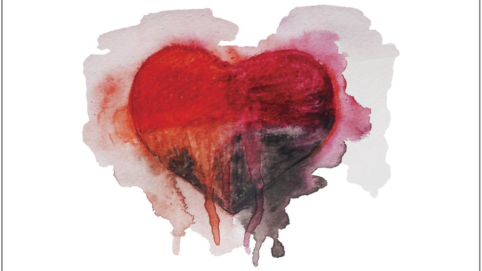 An oil painting of a heart