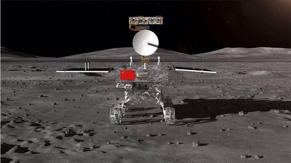 Vozilo na Mesecu, onako kako ga prikazuju kineski državni mediji