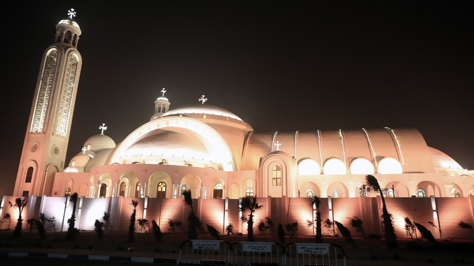 General view of the newly inaugurated Cathedral of Nativity in the New Administrative Capital