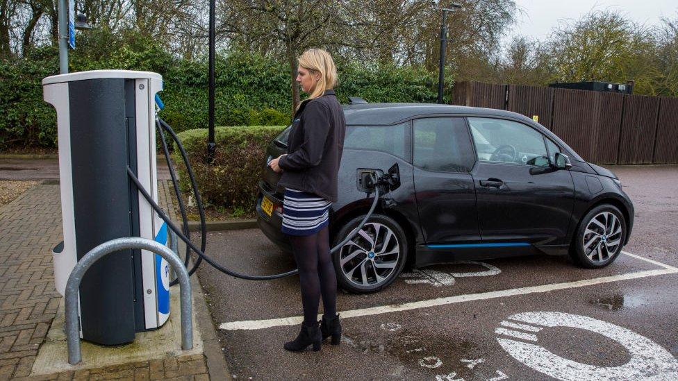 Chargemaster EV charging point in Milton Keynes, UK